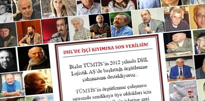 TÜMTİS'in DHL örgütlenme kampanyasına aydın ve sanatçılardan destek