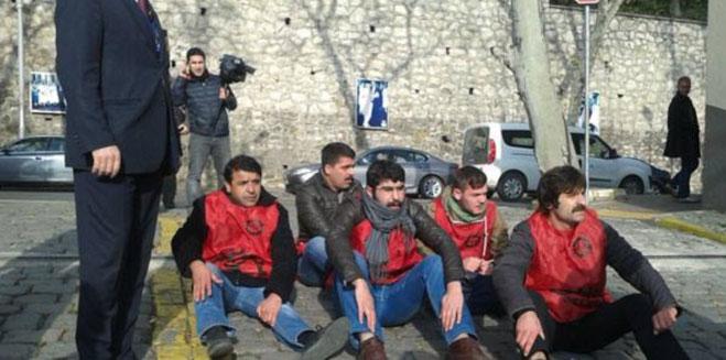 Hazar forumunu ve Enerji Bakanı'nı protesto eden BEDAŞ işçileri gözaltına alındı