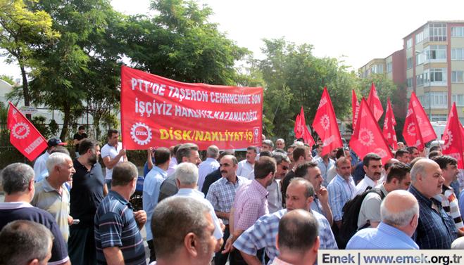 PTT iscileri nakliyat is 21 PTT işçilerine yapılan baskılar protesto edildi