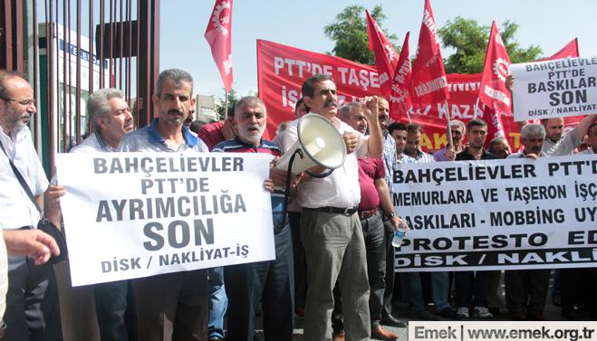 PTT iscileri nakliyat is 3 PTT işçilerine yapılan baskılar protesto edildi
